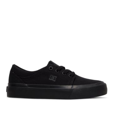 DC Trase TX Skate Shoes (Kids) - Black / Black