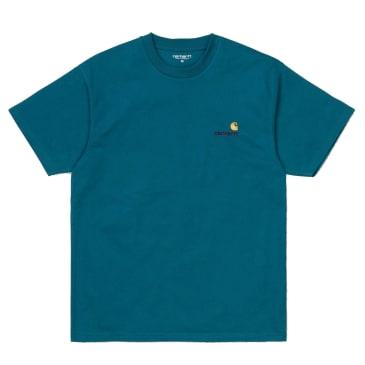 Carhartt WIP - American Script T-Shirts - Moody Blue