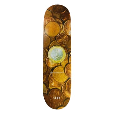 Sour Simon Coins Skateboard Deck - 8.25""