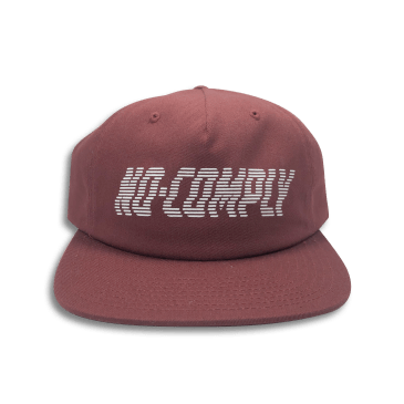 No-Comply Wavy Strap Back Burgundy