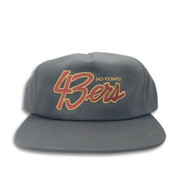 No-Comply 43ers Snap Back Hat Grey