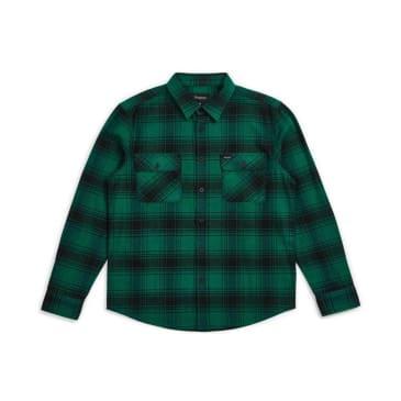 Brixton Bowery Flannel Shirt - Black / Green