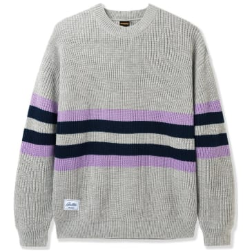 Butter Goods Moor Sweater - Grey / Mauve / Navy
