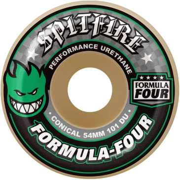 Spitfire Formula Four 54mm 101A Conical Wheels (Green Print)