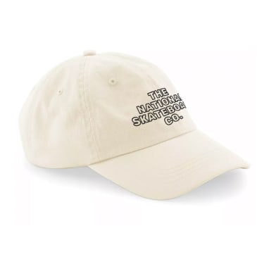 The National Skateboard Co. Classic Text 6-Panel Cap - Stone