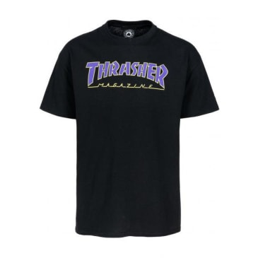 Thrasher - Outlined SS Black/Purple/Yellow Medium