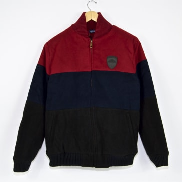 Helas - Fan Jacket - Burgundy / Navy / Black