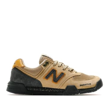 New Balance Numeric x Primitive 574 Shoes - Black / Tan / Gold