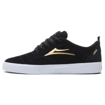 Lakai Bristol Suede Skate Shoes - Black / Gold