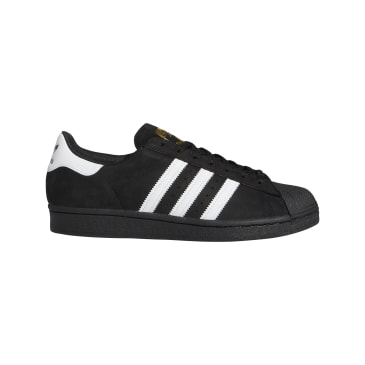 Adidas Superstar ADV Skateboarding Shoes - Core Black/FTWR White/Gold Met