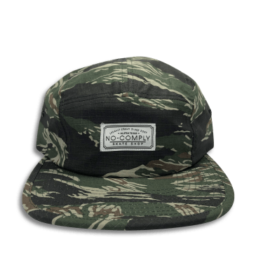 No-Comply 5 Panel Volley Hat Tiger Camo