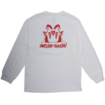 Fucking Awesome Heart Long Sleeve T-Shirt - White