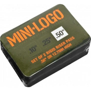 "Mini Logo .50"" Rigid Riser (Black)"