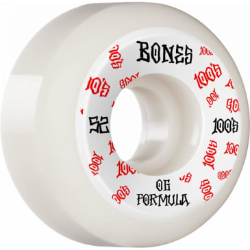 Bones Wheels - 52mm 100's V5 Sidecut Skateboard Wheels