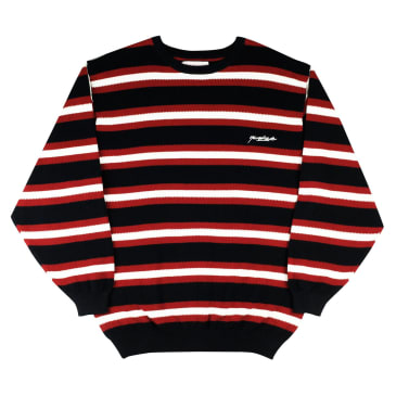 Yardsale Vermont Knit Long Sleeve - Black / Scarlet
