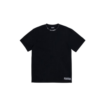 "Black ""Cut Here"" Heavyweight T-Shirt"