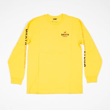 Brixton Peabody II SV L/S T-Shirt - Yellow