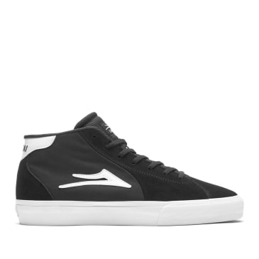 Lakai Flaco 2 Mid Suede Skate Shoes - Black / White