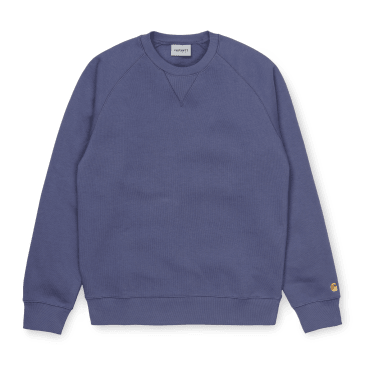 Carhartt WIP Chase Sweat - Cold Viola /Gold