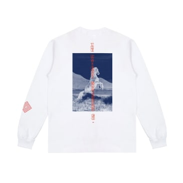 The National Skateboard Co. Buck Long Sleeve T-Shirt - White