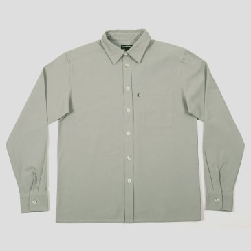 """PASS~PORT """"WORKERS"""" SHIRT L/S GREY"""