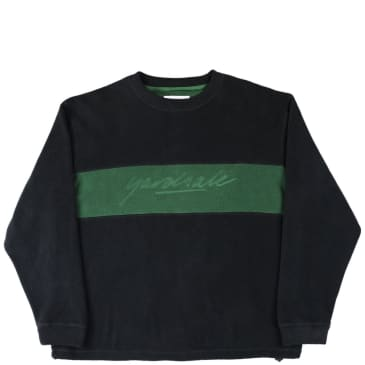 Yardsale Embossed Fleece Sweatshirt - Black / Forest Green