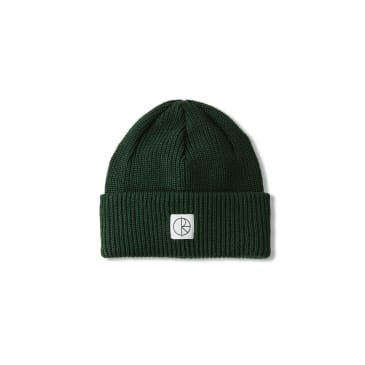 Polar Skate Co Double Fold Merino Beanie - Hunter Green