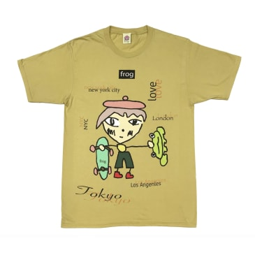 Frog Skateboards - World Wide Love Tee Yellow