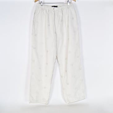 Bronze 56K - Allover B Logo Embroidered Cord Pants - White