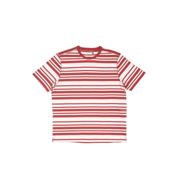 Striped Tee Pepper Red / Off White