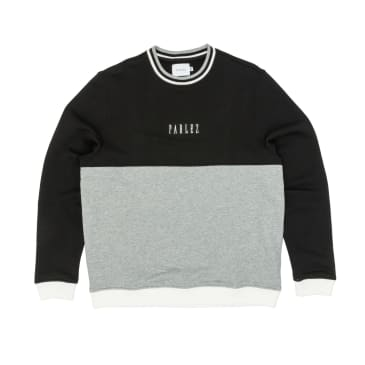 Parlez Vang Crew Sweatshirt - Heather Grey/Black