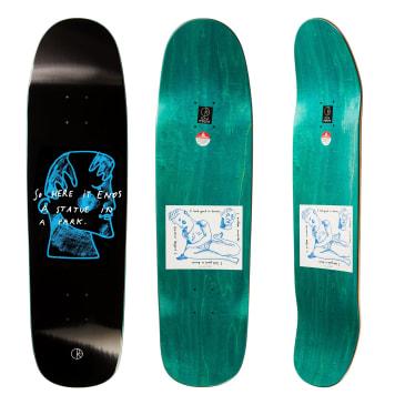 "Polar Skate Co I Prefer Marble Skateboard Deck Black - 8.625"" P9 Special Shape"