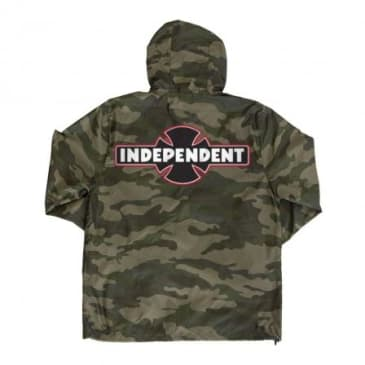 Independent O.G.B.C Patch Hooded Windbreaker Jacket - Camo