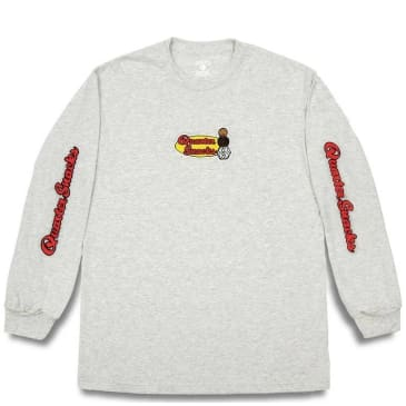 Quartersnacks Middle School Long Sleeve T-Shirt - Ash Grey