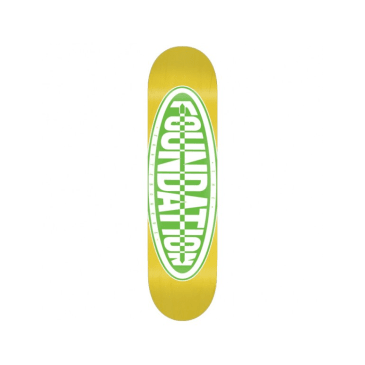 "Foundation Super Co- Oval 8.5"" Deck Yellow"