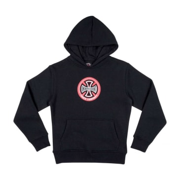 Independent Hollow Cross Youth Hoodie - Black