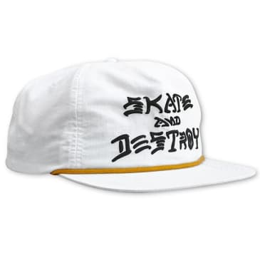 Thrasher Skate And Destroy Unstructured Hat (White)