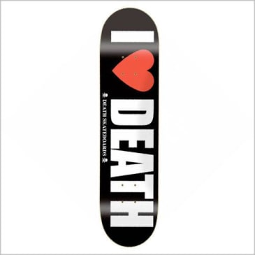 "Death Skateboards - 8.125"" I Love Death Deck"