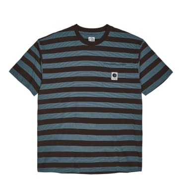 Polar Skate Co Stripe Pocket T-Shirt - Brown/Blue