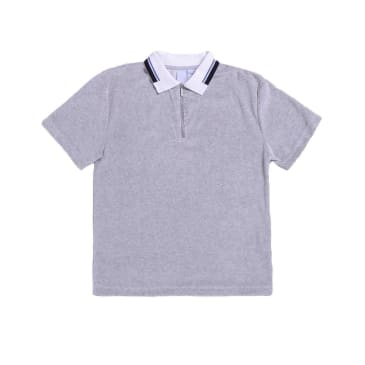 Quasi Skateboards Velour Zip Polo Shirt - Heather Grey
