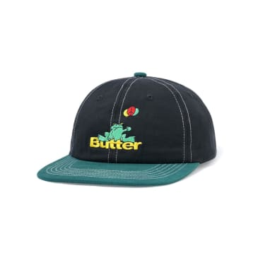 Butter Goods Frog 6 Panel - Black / Teal