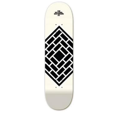 The National Skateboard Co Classic Cream High Concave Deck - 8.375""