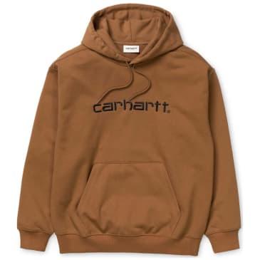 Carhartt WIP Hooded Carhartt Sweatshirt Hamilton - Brown / Black