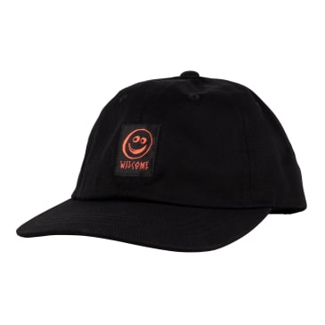 Welcome Skateboards Smiley Unstructured Snapback Hat - Black