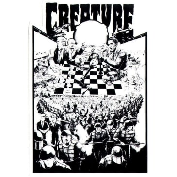 Creature Skateboards Checkerboard Sticker