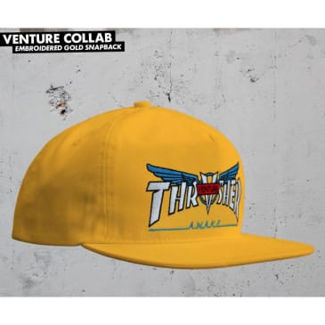 Thrasher x Venture Collab Snapback (Gold)