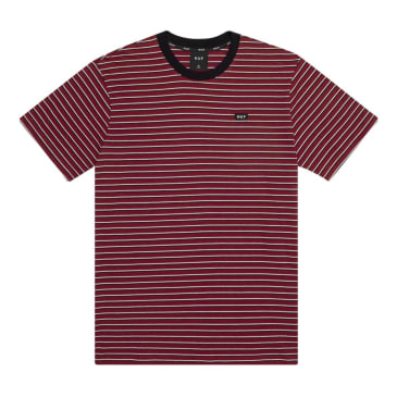 HUF Davis Striped Knit Tee Red Pear