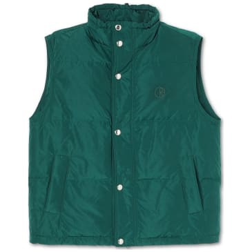 Polar Skate Co Puffer Vest - Dark Green