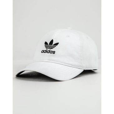 Adidas Originals Relaxed Strapback Hat White - Black