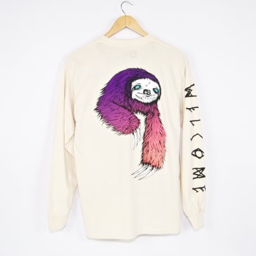 Welcome Skateboards - Sloth Longsleeve T-Shirt - Bone
